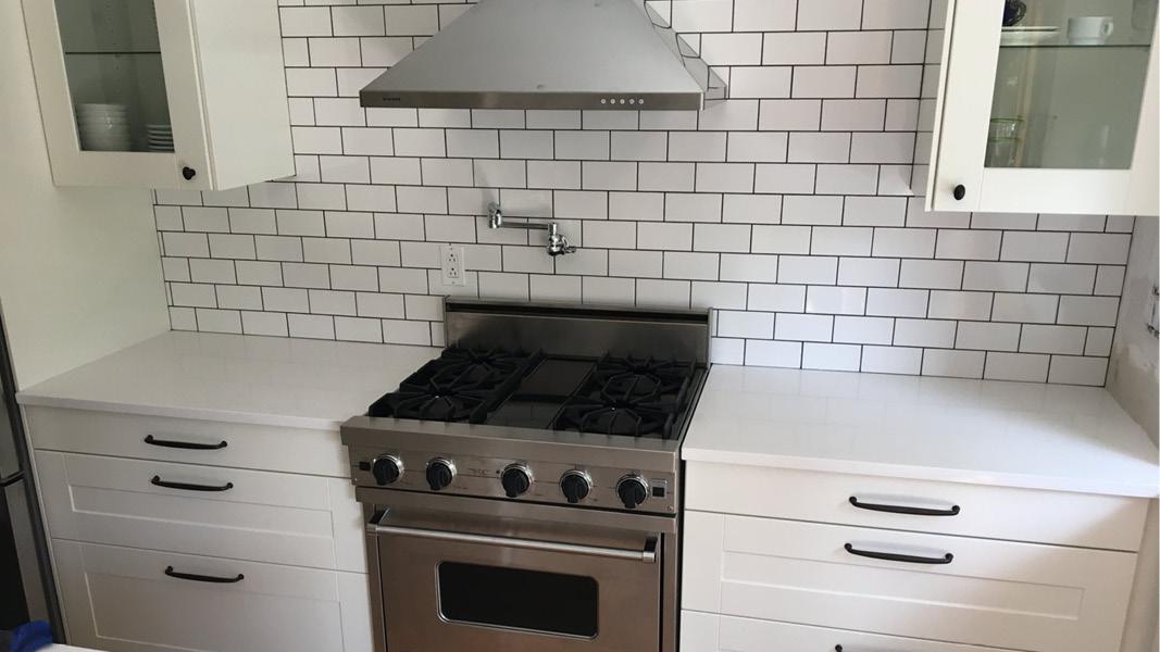 Kitchen renovation project in Richmond - white theme