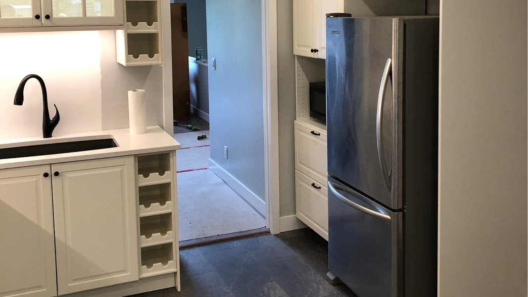 Kitchen renovation project in Burnaby - before/after