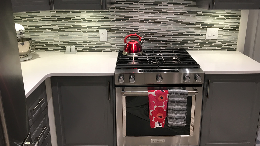 Kitchen renovation project in Burnaby - backsplash close up