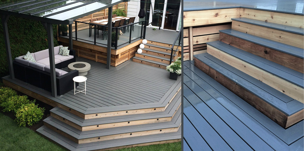 Luxury decks and outdoor living example - project in North Vancouver
