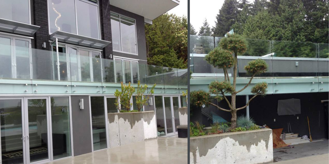 Three Mountains Construction - Glass railing example