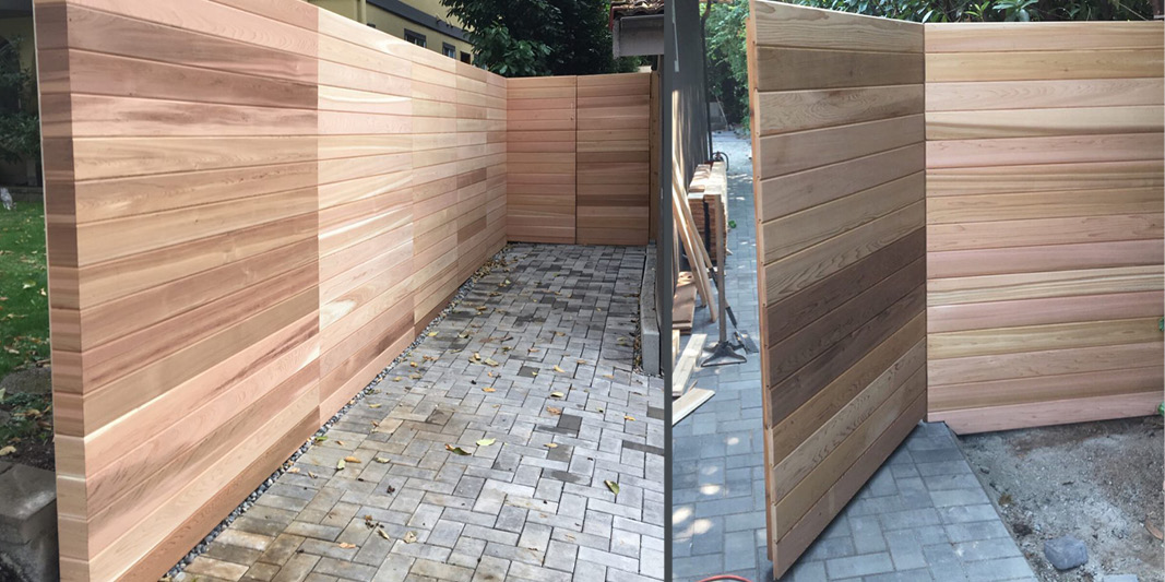 New cedar fencing example