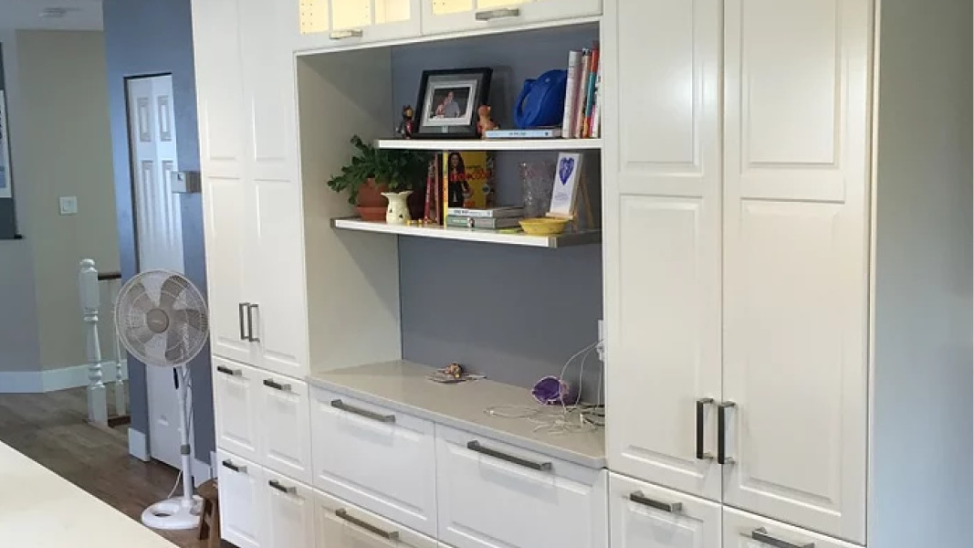 Custom kitchen cabinetry example