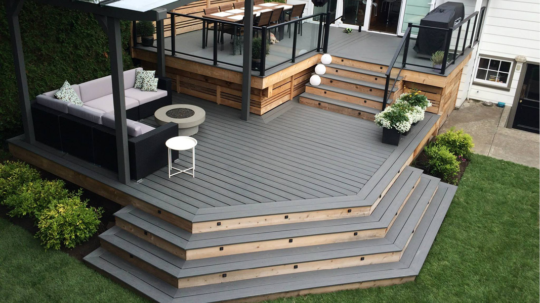 Premium outdoor living area project for West Vancouver home