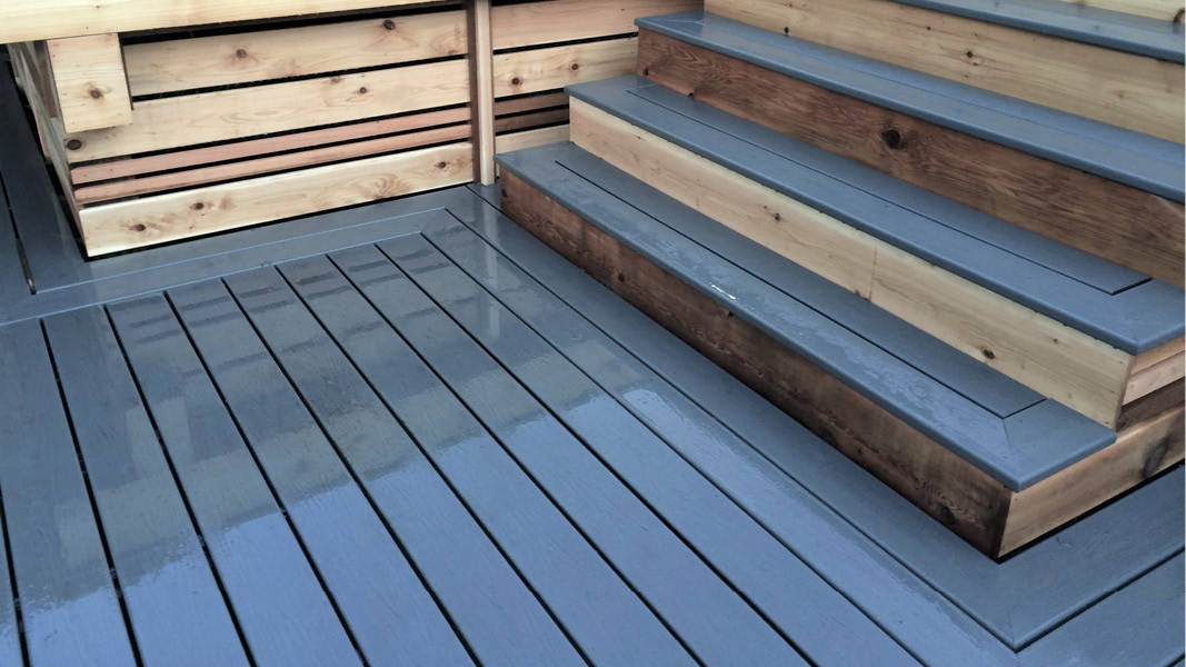 Outdoor deck project for North Vancouver home