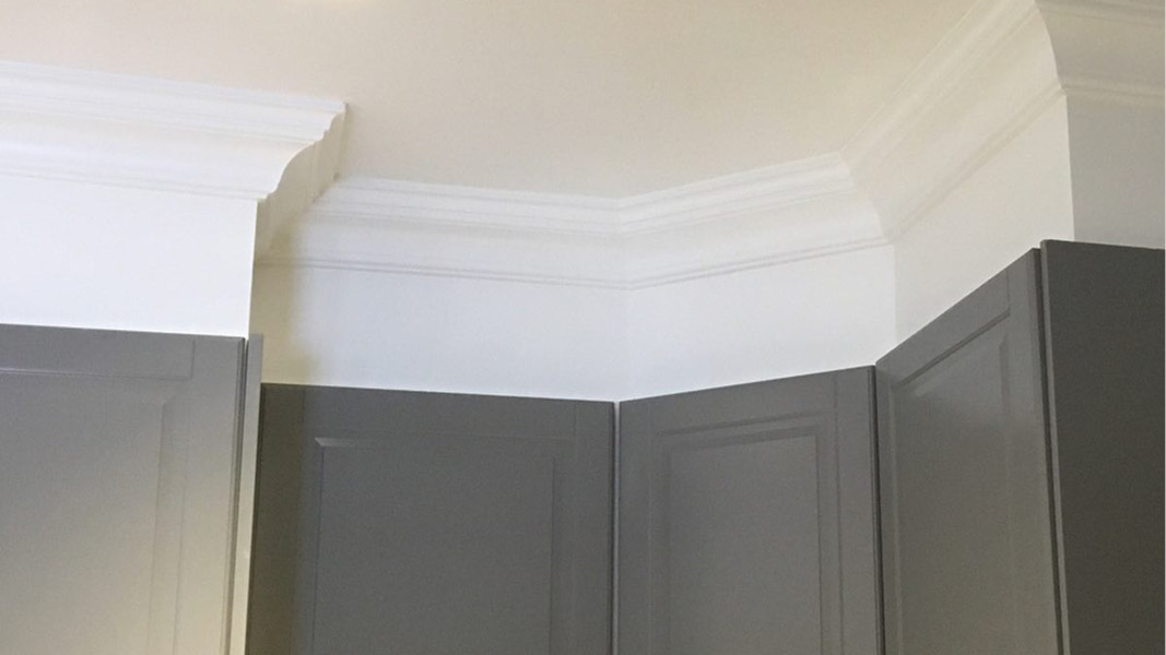 Crown molding project for North Vancouver home