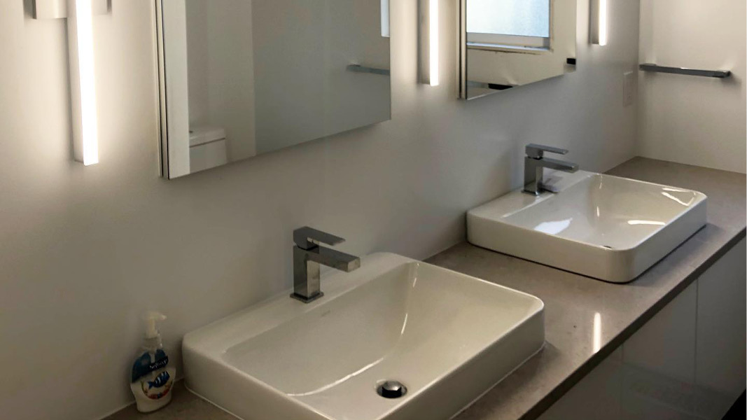 Bathroom renovation project in Coquitlam - Sink