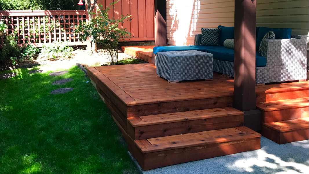 Outdoor renovation project