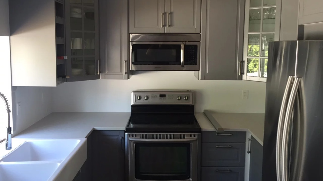Kitchen renovation project in Burnab